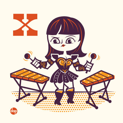 "Dave Perillo ""X is for Xylophoning Xylophones"" Print"