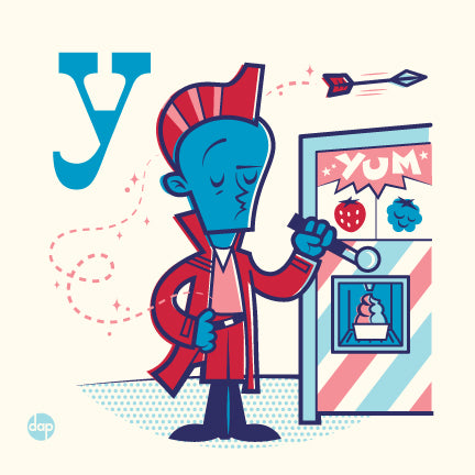 "Dave Perillo ""Y is for Yummy Yogurt"" Framed Print"