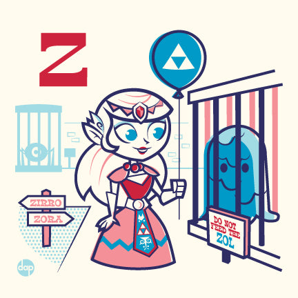 "Dave Perillo ""Z is for Zealous Zoos"" Print"