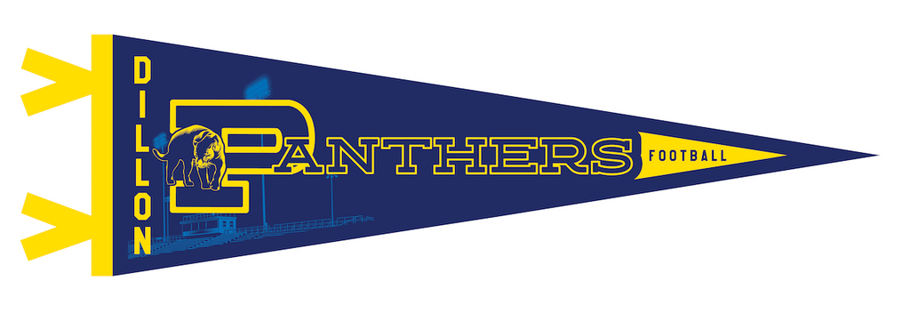 "Jeff Boyes ""Dillon Panthers"" Pennant"