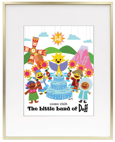 "Daisy Church ""Little Land of Duff"" Framed Print"