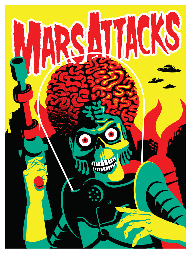 "Dan Stiles ""Mars Attacks"" Print"