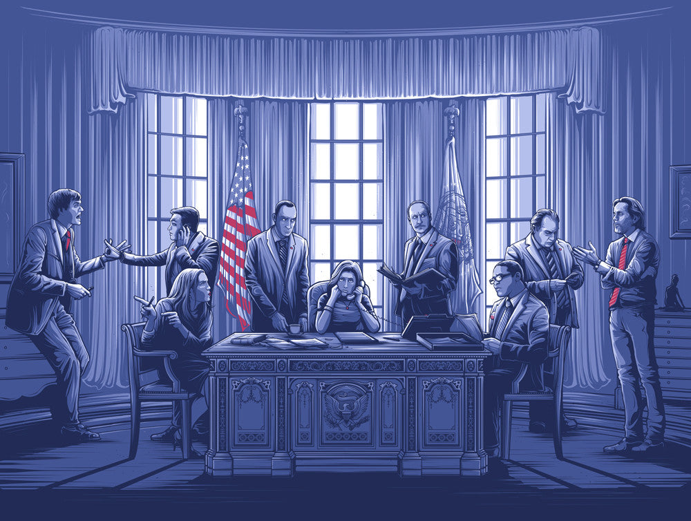 "Dan Mumford ""Hey, I'm the president. I can fuck anybody I want now, right?"" Print"