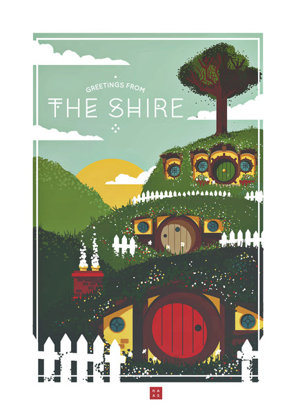 "Danny Haas ""Greeting from The Shire"" Postcard Print"