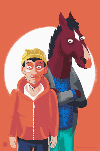 "Danny Haas ""Bojack and Todd"" Print"
