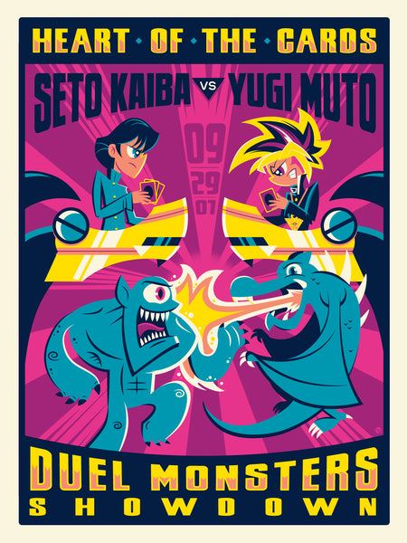 "Dave Perillo ""Duel Monsters Showdown"" Print"