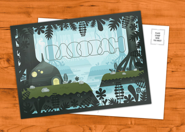 "David Vordtriede ""Dagobah"" Postcard Print"