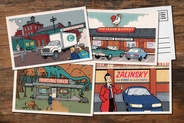 "Derek Eads ""That's Gonna Leave A Mark!"" Postcard Print Set"