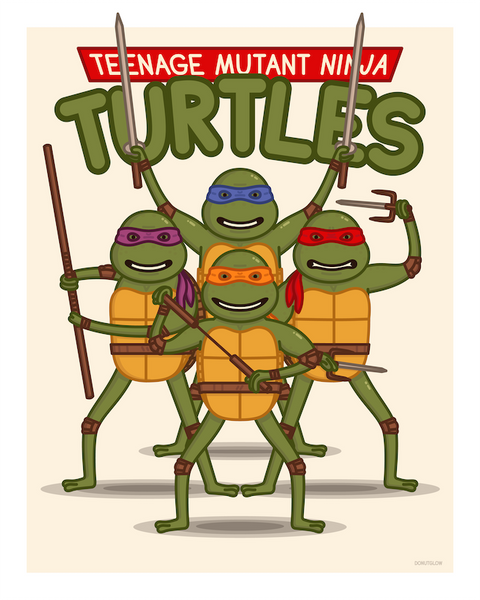 "DonutGlow ""TMNT The Movie"" Print"