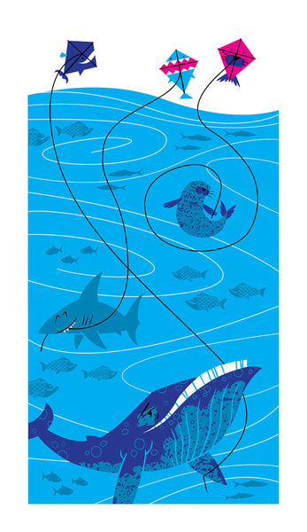 "Doug LaRocca ""Sea Animal Kites"" Print"