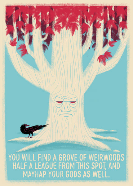 "Doug LaRocca ""Under the Weirwood Tree"" Postcard Print"