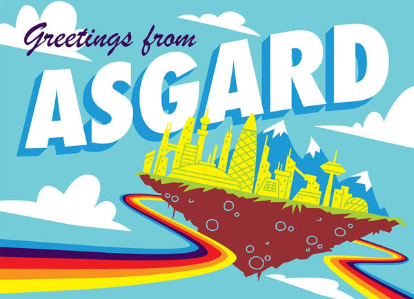 "Doug LaRocca ""Greetings from Asgard"" Postcard Print"