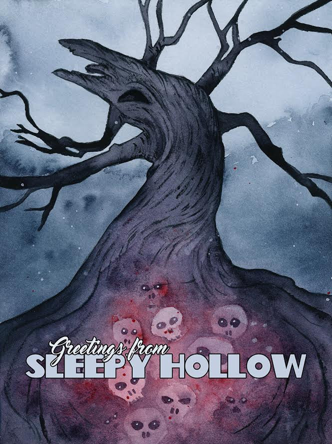 "Ellen Wilberg ""Greetings from Sleepy Hollow"" Postcard Print"