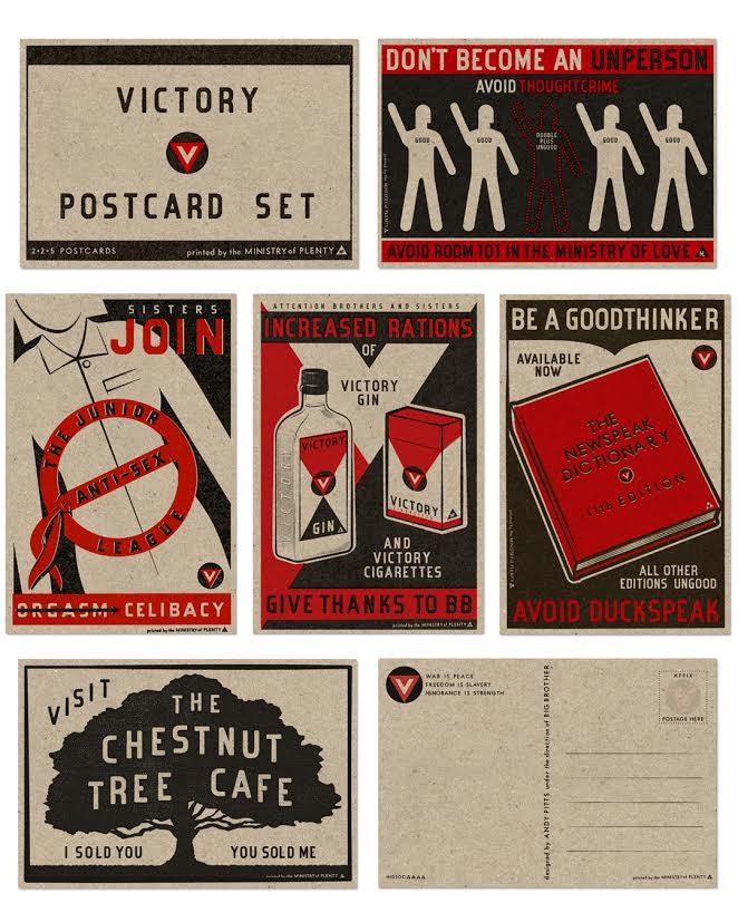 "Andy Pitts ""1984 Victory"" Postcard Print Set"