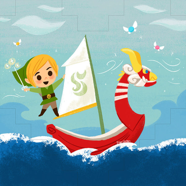 "Eren Unten ""The Wind Waker"" Wood Print"