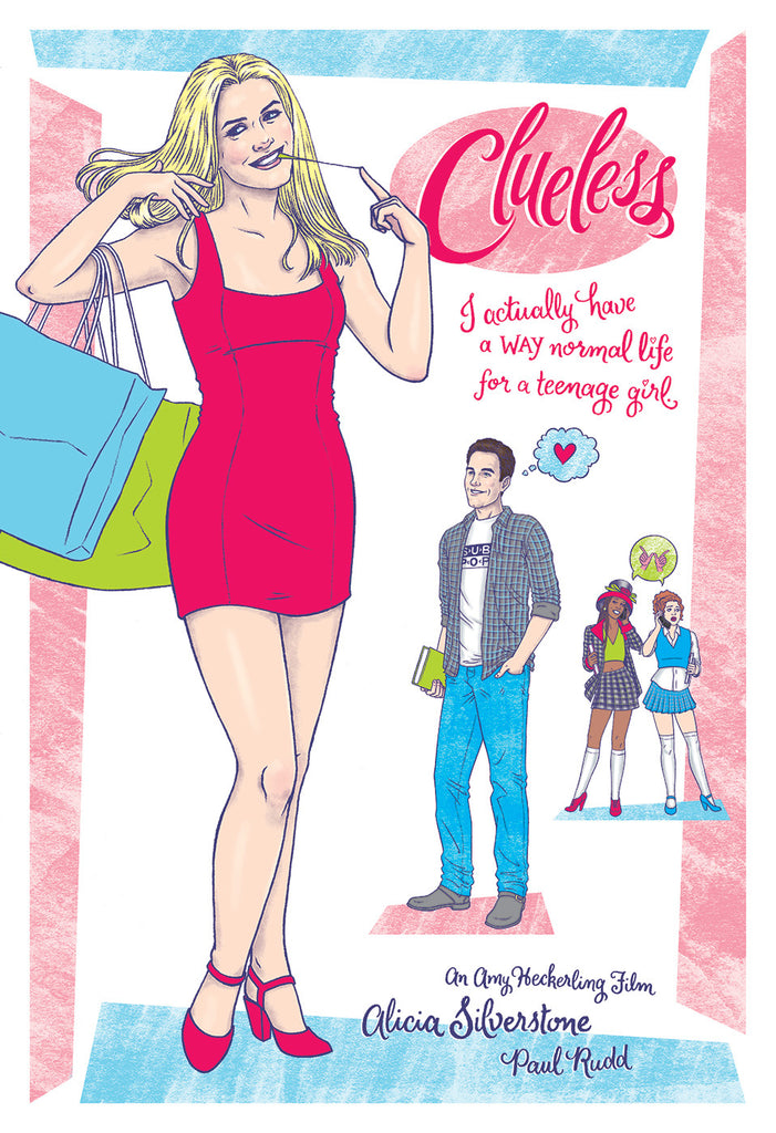"Erin Gallagher ""Cher Horowitz is: Clueless!"" Print"