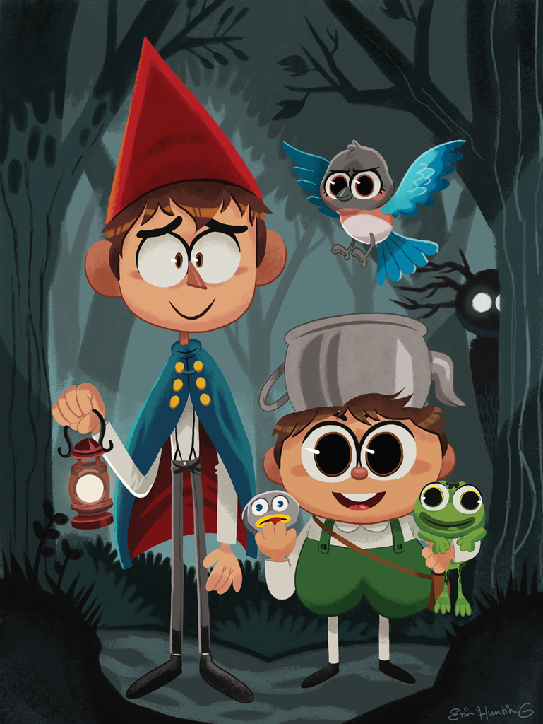 "Erin Hunting ""Over The Garden Wall"" Print"