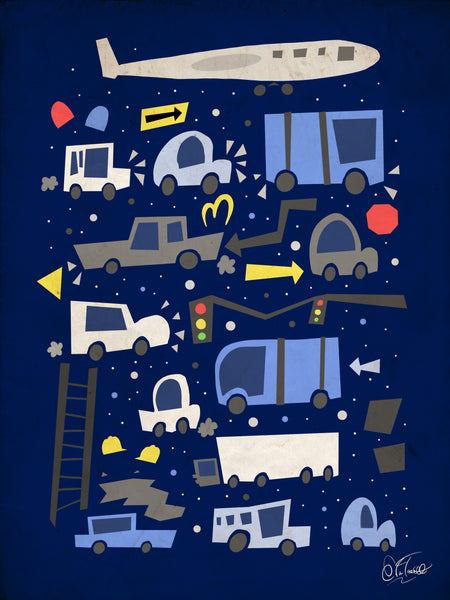 "Evan Troutt ""Bumper to Bumper"" Print"
