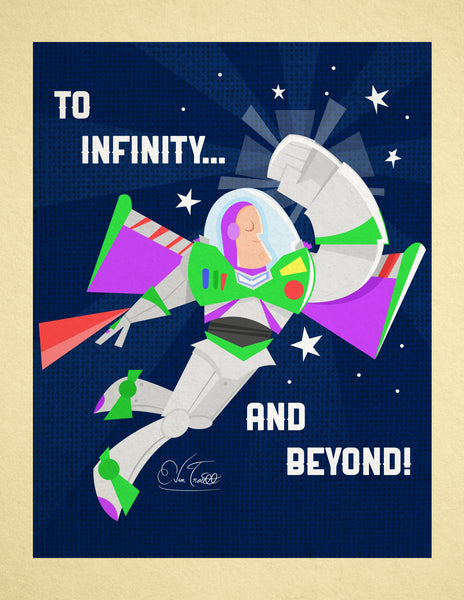 "Evan Troutt ""To infinity and beyond!"" Print"