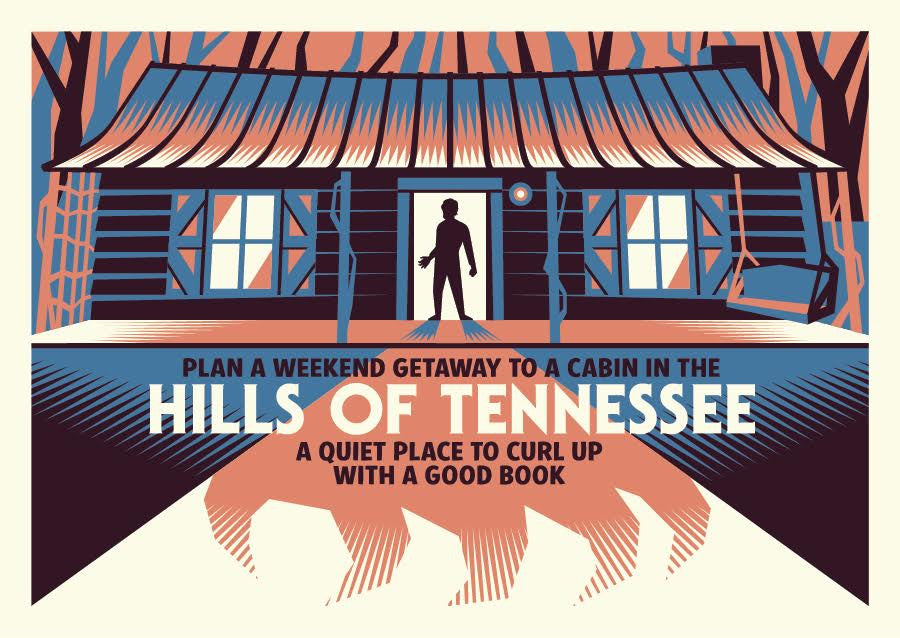 "Ryan Brinkerhoff ""Curl up with a Good Book in the Hills of Tennessee"" Postcard Print"