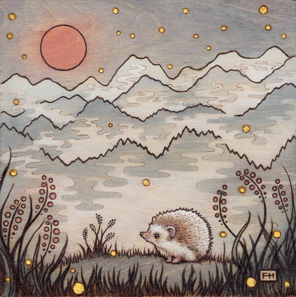 "Fay Helfer ""Hedgehog in the Fog"" Print"
