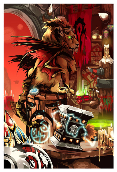 "Alexander Wells ""For The Horde!"" Print"