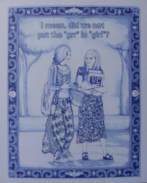 "Irma Rivera ""Greetings from the Studies on the Relationships of the Buffyverse"" Postcard Print"