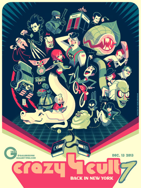 ".Glen Brogan ""Crazy 4 Cult 7"" Poster"
