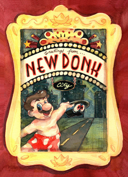 "Geoff Pascual	""Greetings from New Donk City"" Postcard Print"