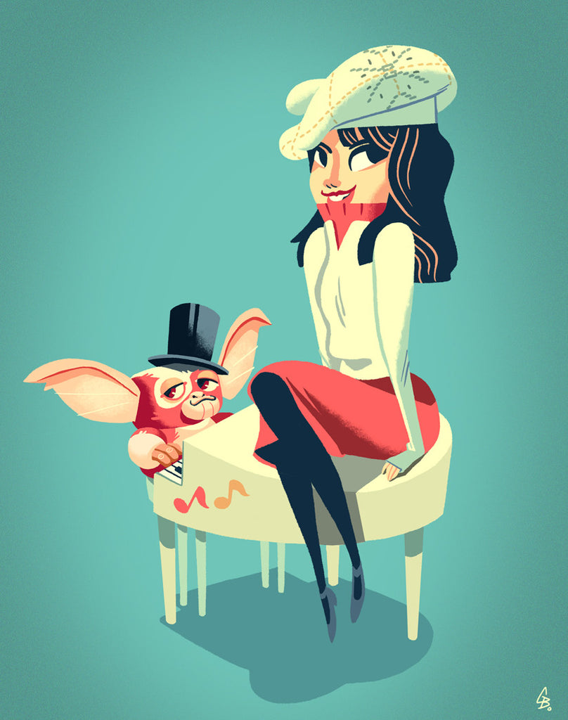 "Glen Brogan ""Gizmo and Kate"" Print"