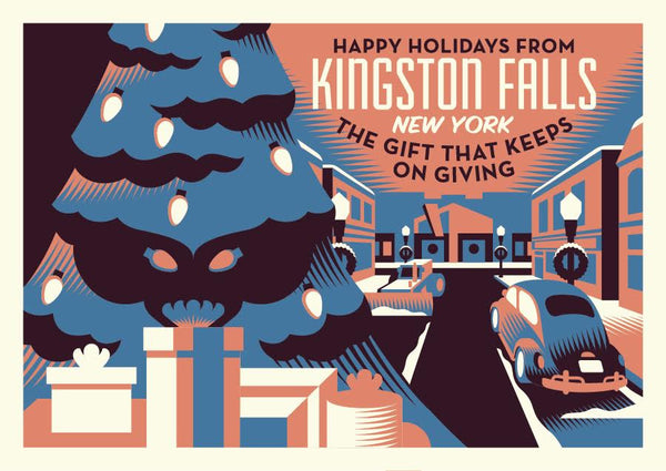 "Ryan Brinkerhoff ""Happy Holidays from Kingston, NY"" Postcard Print"