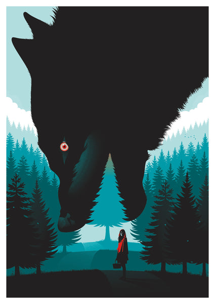 "Guillaume Morellec ""Little Red Riding Hood"" Print"