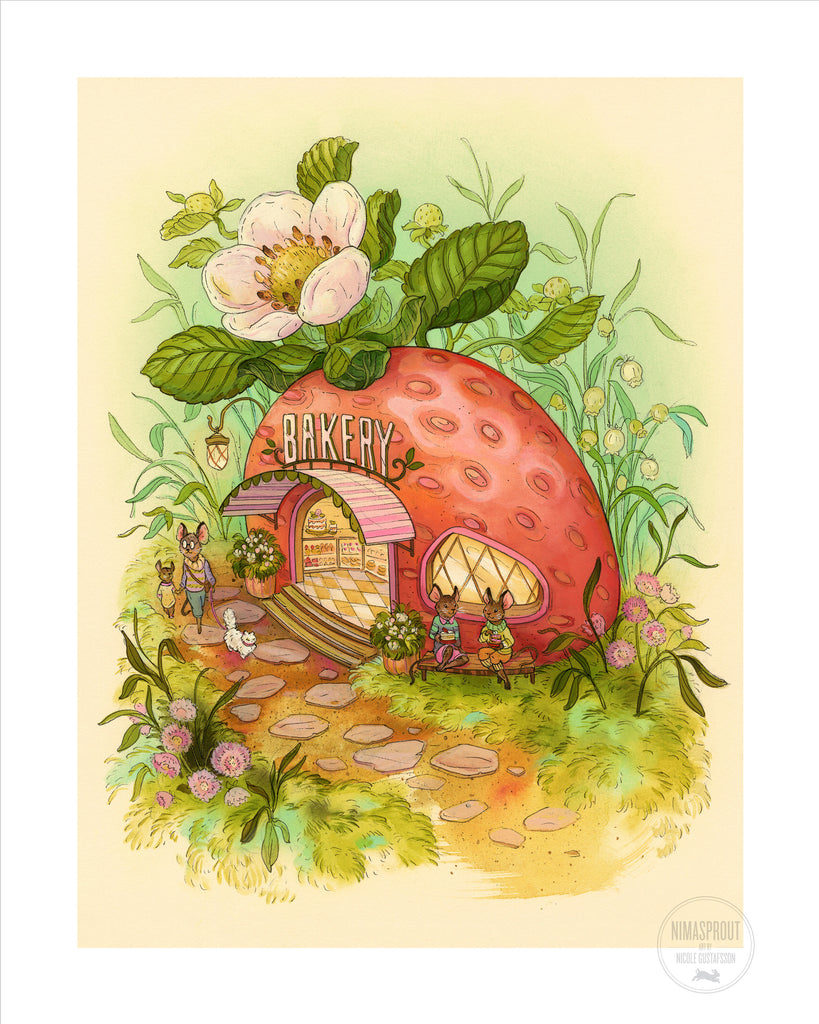 "Nicole Gustafsson ""Strawberry Bakery"" Print"
