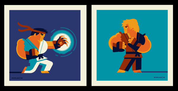 "Tom Whalen ""Haduoken Vs Shoryuken"" Print Set"