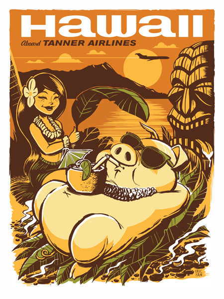 "Eric Tan ""Hawaii"" Print"
