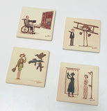 ".Scott C. ""Hitchcock Showdowns"" Coaster Set"