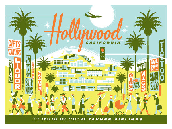 "Eric Tan ""Hollywood"" Print"