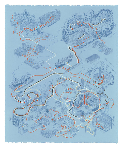 "Andrew DeGraff ""Paths of Raiders (Variant)"" Print"