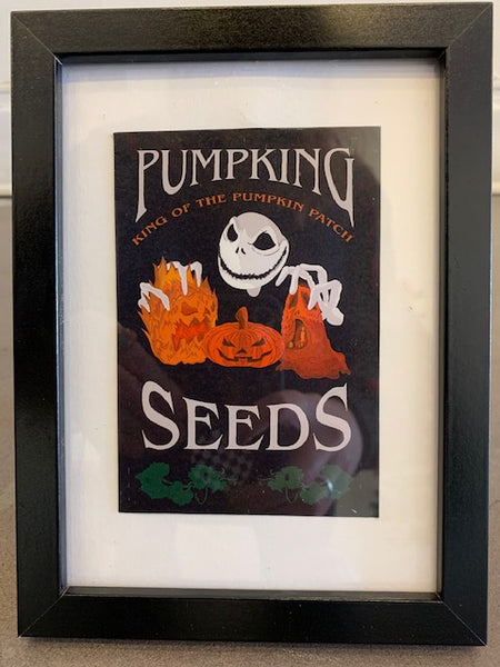 "Eleanor ""Pumpking Seeds"" Framed Print"