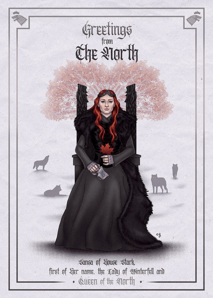 "Erin Gallagher ""Greetings from The North"" Postcard Print"