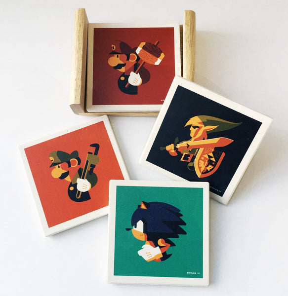"Tom Whalen ""Coaster Set"""