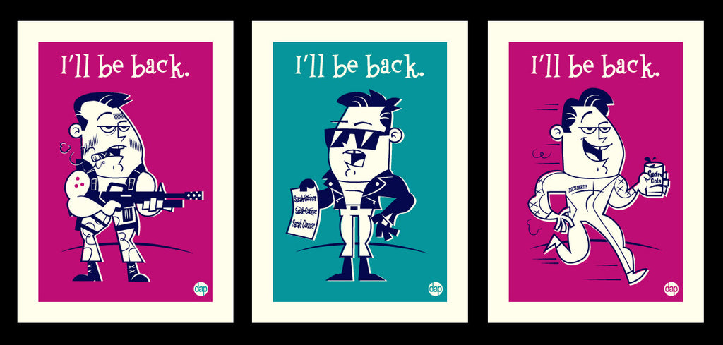 "Dave Perillo ""I'll Be Back"" Print Set"