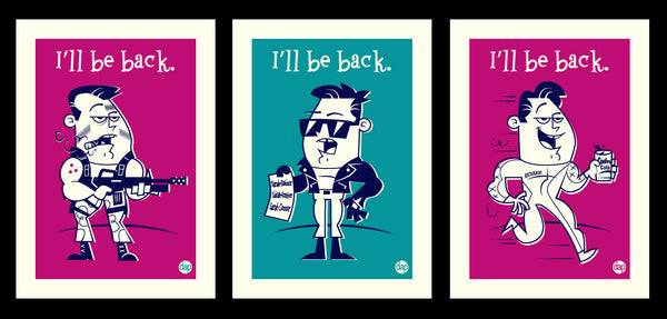 "Dave Perillo ""I'll Be Back"" Framed Print Set"