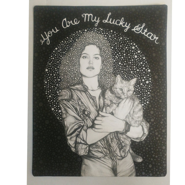"Irma Rivera ""Lucky Star"" Postcard Print"