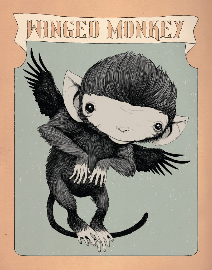 "Isaac Bidwell ""Winged Monkey"" Canvas Print"