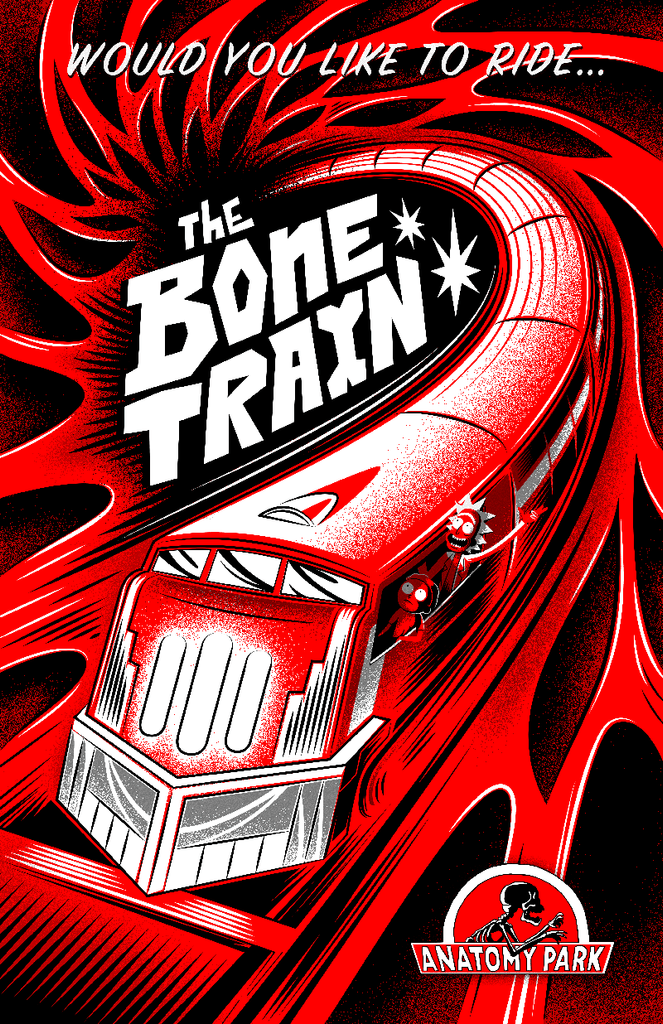"J.C. Arenas (Robot Soda) ""The Bone Train"" Print"