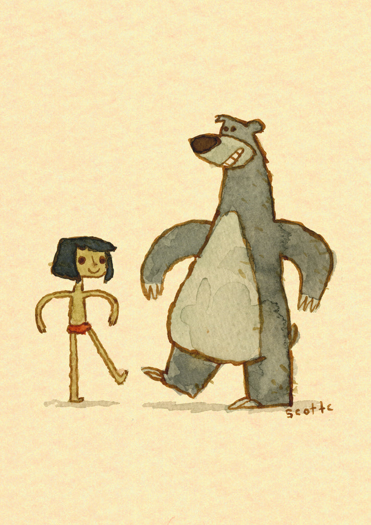 "Scott C. ""Jungle Book Showdown"" Greeting Card"
