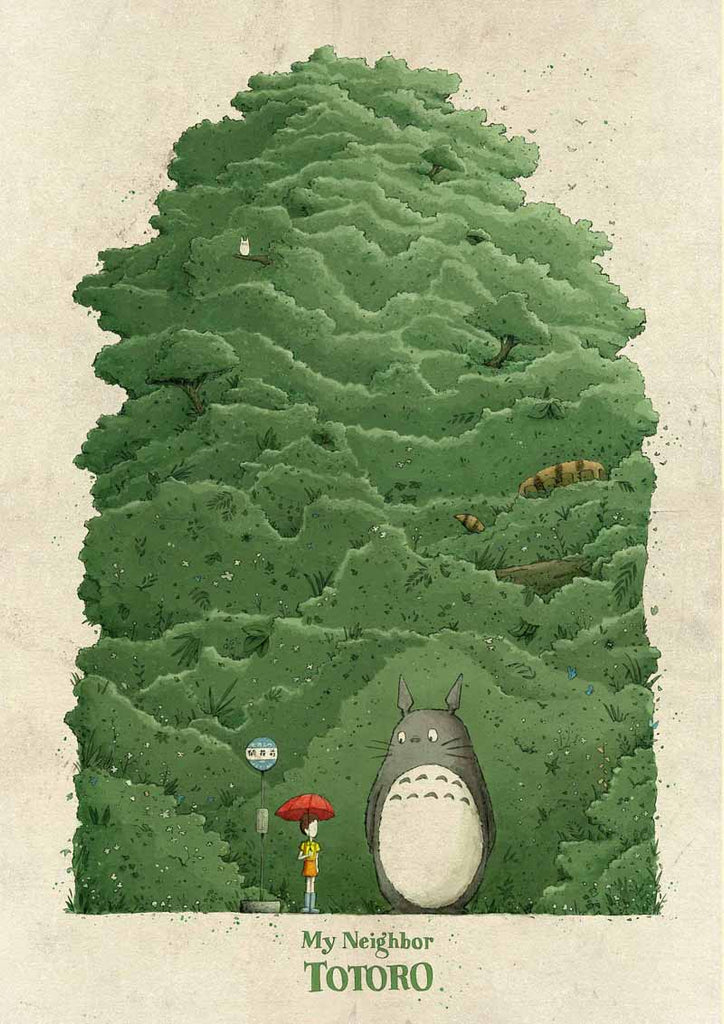 "Jacob Stack ""My Neighbor Totoro"" Print"