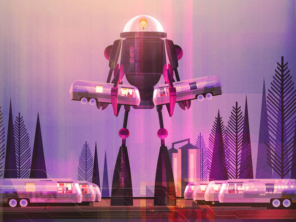 "James Gilleard ""Cravan Smash"" Print"