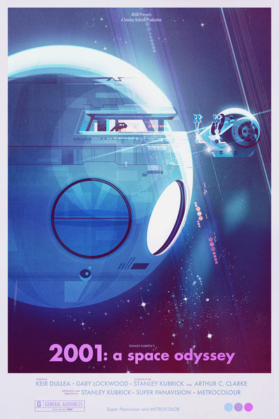 "James Gilleard ""2001: A Space Odyssey"" Framed Print"